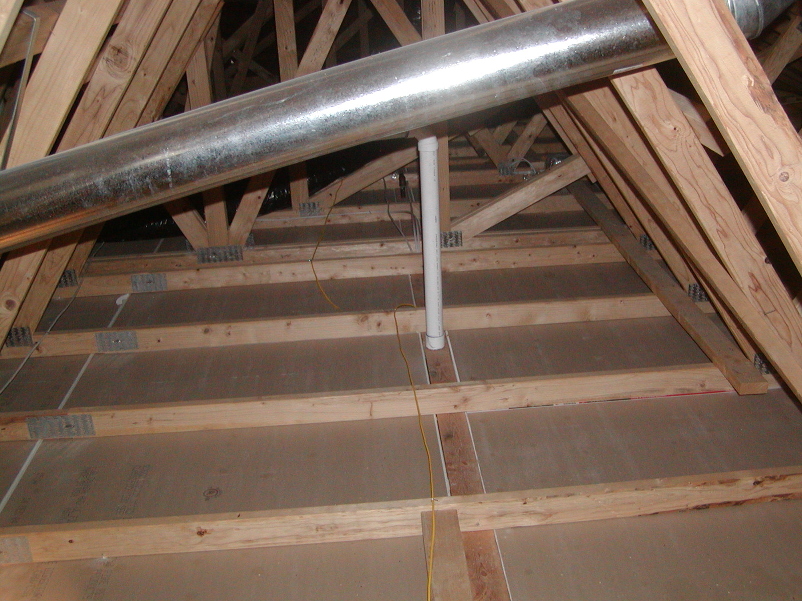 attic without insulation