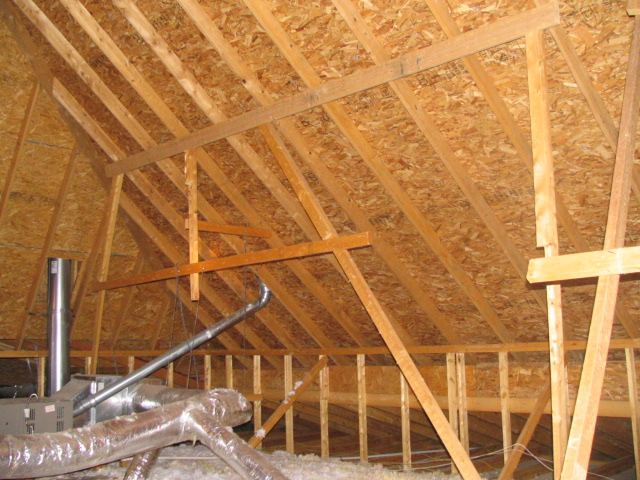 missing and inadequate bracing in attic