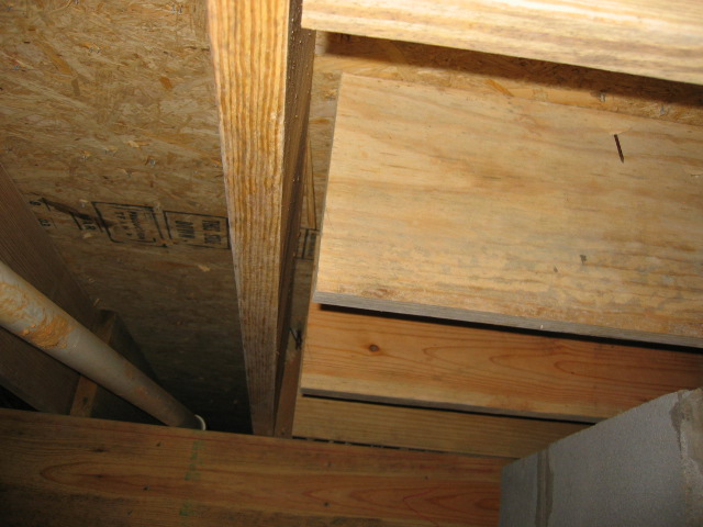 joists hanging because they are too short