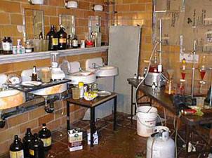 meth lab in tile room