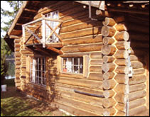 log home restoring ready for inspection