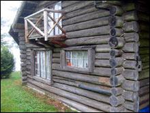 log home prior to restoration