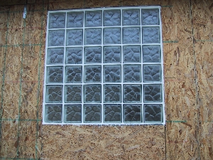 glass block window without frame
