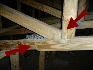 missing truss plates