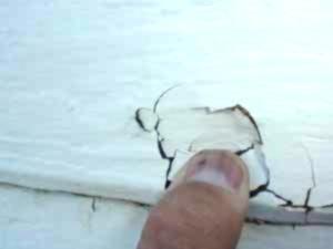 damaged lp siding, finger pressing soft spot