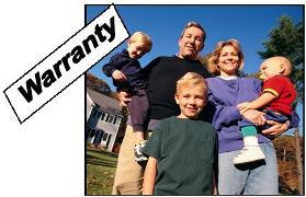 90 day home warranty - smiling family